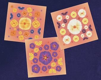 Botanical Art Greeting Cards, Botanical Print, Floral Painting, Botanical Wall Art, Garden Illustration, State Flowers, Flower Illustration