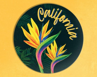 Bird of Paradise Sticker / California Sticker / Botanical Sticker / Paradise Flower Sticker / Tropical Flower Sticker / California Decal