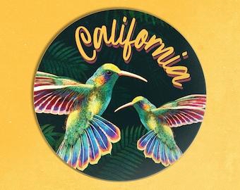 Hummingbird Sticker / California Sticker / Colibri Sticker / Tropical Bird Sticker / Botanical Sticker / California Decal