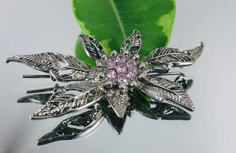 bird feather brooch Gift for her 925 silver brooch Sterling silver brooch Brooch Christmas present shiny brooch