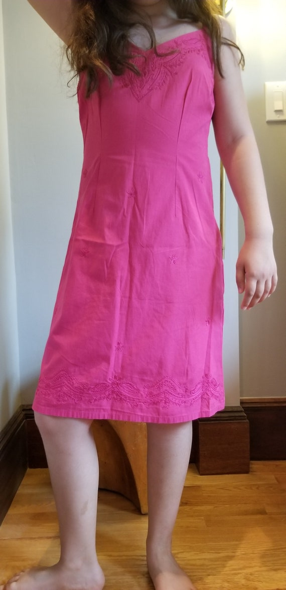 Vintage- Baby Doll Dress, 100% Cotton, Slip Style