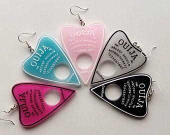 Sparkly Planchette Ouija Board Earrings