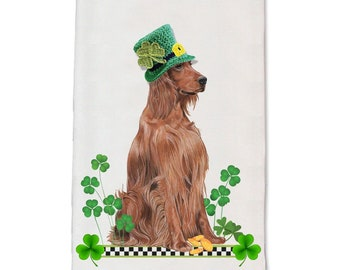 Irish Setter Motif Cuff-Link /& Tie Clip Set NEW Man/'s Gift Dad Irish Setter Gift