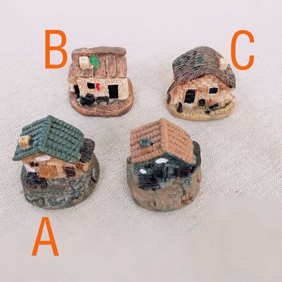 3 x Resin Crafts Figurines Micro Landscape DIY Toy Fairy Garden Miniatures XBUK