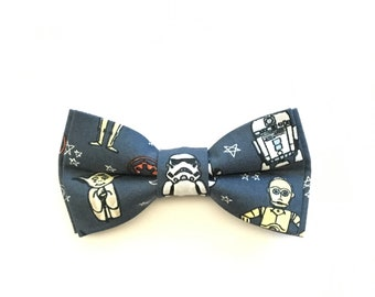 Storm Trooper Bow Ties unique bow tie, Star Wars fabric Sci Fi men/'s gift Made from Lic