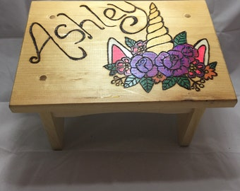 Personalized Wood Stool