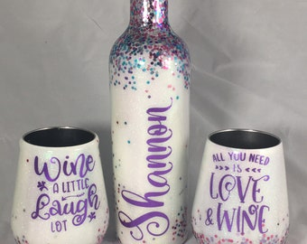 Wine Bottle & Tumbler Set