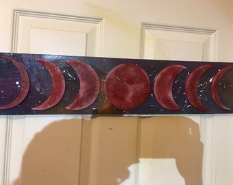 Red Glow in The Dark Moon Phase Sign