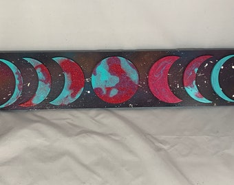 Pink & Blue Moon Phase Sign