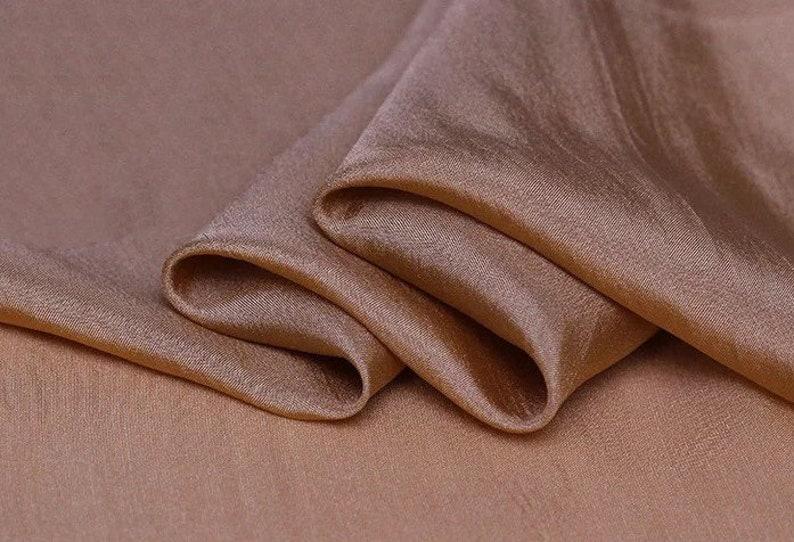 Scarf By the Yard 114cm Width Silk Habotai Lining Fabric 8mm for Skirt Bean Red Habotai Fabric
