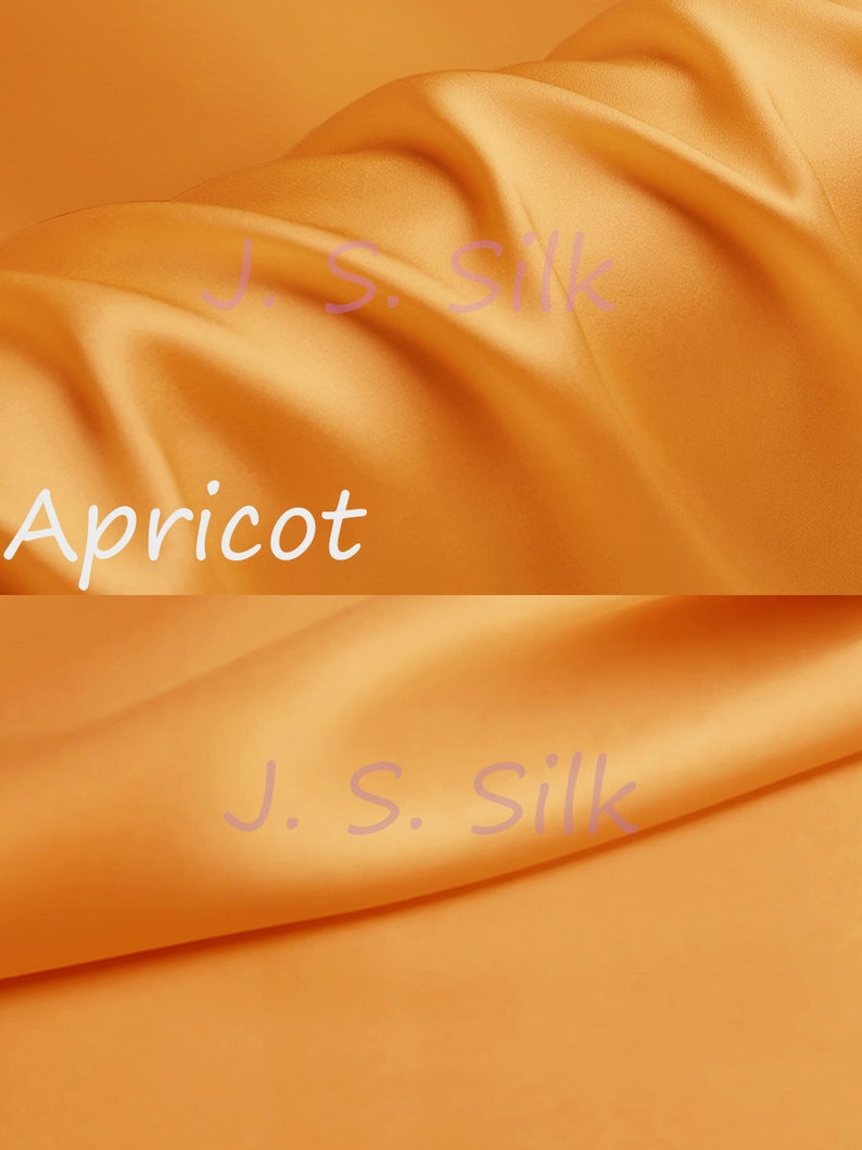 Fkirt By the Yard Dress Sewing DIY 100/% Silk Charmeuse Satin Fabric 19momme Solid Color Apricot Silk Satin Material for Gown