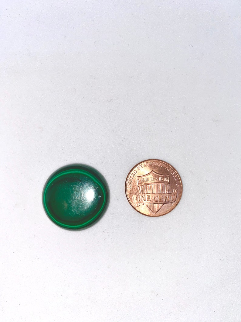 21 MM AAA Genuine Malachite Round 28 carats