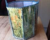 Vintage Floral Card Stitched Basket