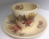 "Floral teacup Swinnertons ""Harvest"""