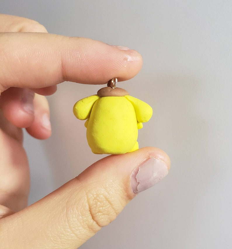 Handmade Polymer Clay Cute Friend Hello Kitty Kawaii Sanrio Pompompurin Charm Gift