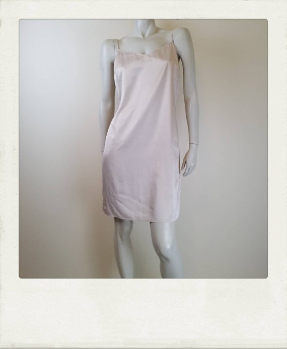 GORMAN pink champagne slip dress / Boho / Hipster