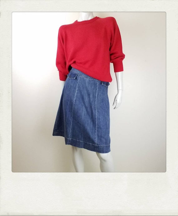 Gorman Denim Skirt / A-Line / Size 14AU