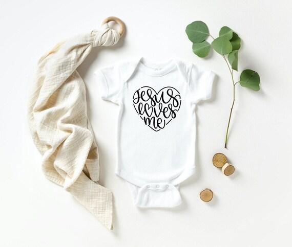Black Gold Glitter shirt bodysuit custom hearts newborn infant baby toddler little girl Sunday School Baptism gift Jesus loves me Church