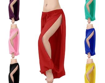 Harem Pants Belly Dance Dark Red w// Red Glow