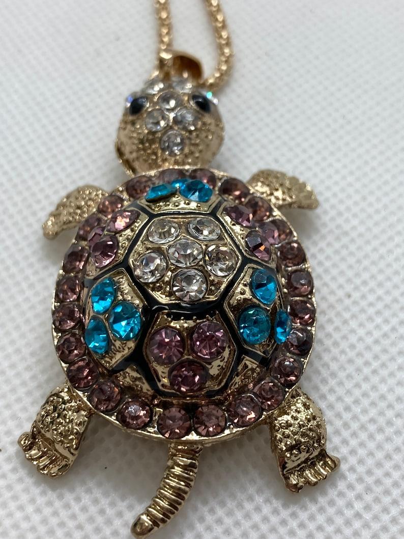 Betsey Johnson turtle necklace