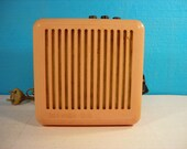 Vintage radio speaker Old soviet radio 1980s