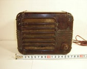 Vintage old soviet radio speaker USSR 1950s