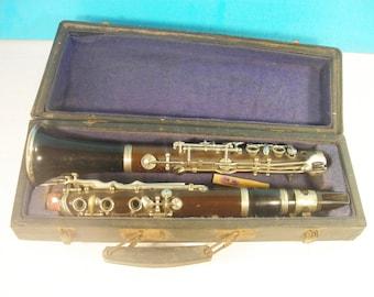 Musical Instrument Clarinet original case Vintage USSR 1960s