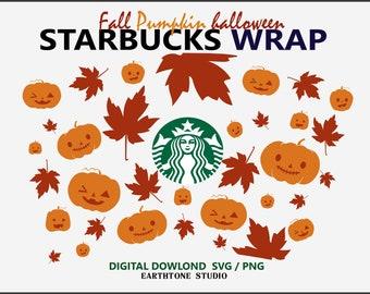 Halloween Clipart Full Wrap Starbucks Cups Svg 24 Oz Diy Venti Etsy