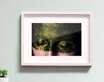 ANA II - photo art print galaxy glitter girl (A4)