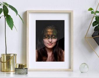 ANA III - photo art print galaxy glitter girl (A4 or A3)