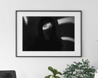 DANA II - photo art print shadow girl (A4)