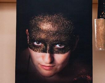 ANA I - canvas large art print galaxy glitter girl
