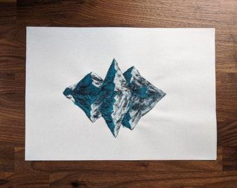 Mountain Painting - Mirror