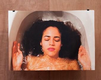 GRETEL II - canvas large art print colorful paint girl