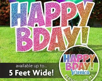 Birthday Yard Signs Etsy