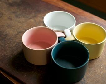 Nordic / Scandinavian-Style Minimalist Ceramic Mugs 6 Fl Oz