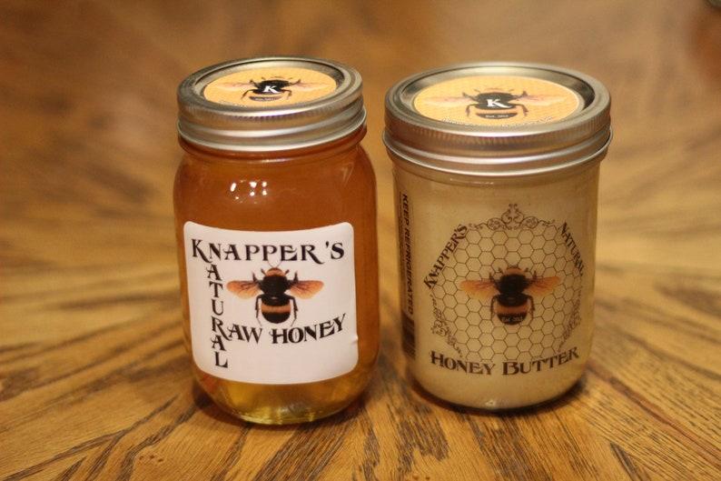 Organic Honey Butter & Raw Unfiltered Honey BUNDLE image 0