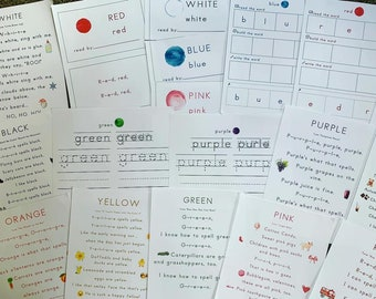 Color Song Spelling Posters, Readers, Word Work and Handwriting