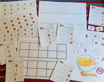Garden Soup Ten Frame Emergent Addition Game