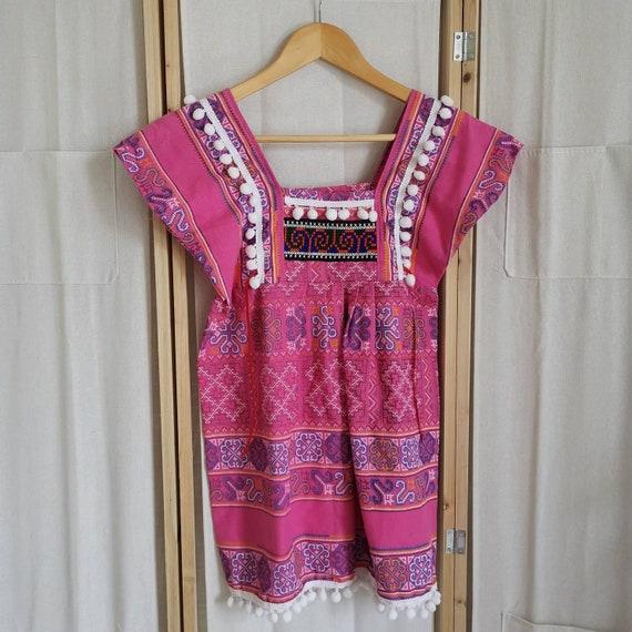 Vintage pink folklore blouse