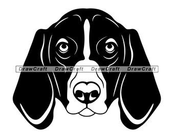 Harrier SVG Bundle PNG Dog Design Pet Canine Logo Mascot Clipart Vector Cut Files Cricut Eps Dxf