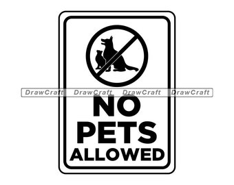 """2/"""" x 6/"""" FREE SHIPPING gate sign /""""No Pets Allowed/"""" sign fence sign"""