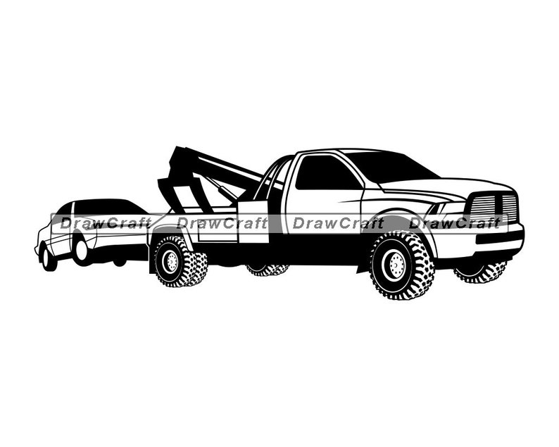 Tow Truck SVG Bundle Tow Truck SVG Tow Vehicle Svg Tow Truck Clipart Cut Files Silhouette Cricut Tow Truck Vector stencil vinyl