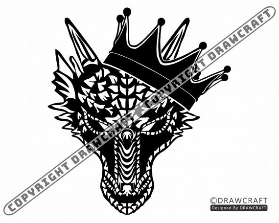 Dragon In Crown 2 Svg Dragon Svg King Dragon Svg Dragon Etsy