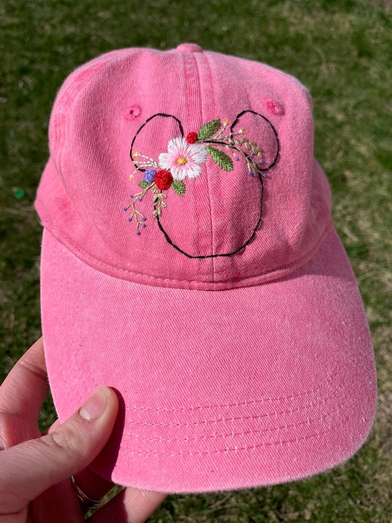 Pink Floral Mouse Hat
