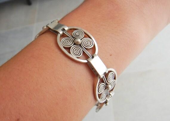 Vintage Mid Century Modern  Silver Bracelet Borge