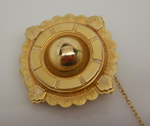 Antique Victorian 18 ct Gold Target Locket Brooch