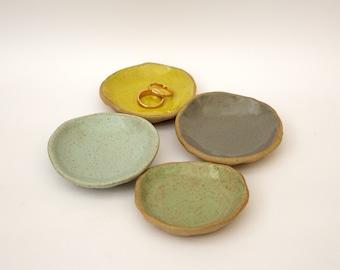 Glazed Stoneware Mini Ring Jewellery Jewelry Tray Dish Trinket Plate
