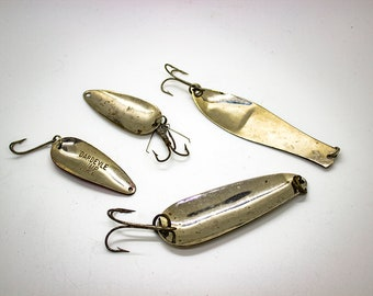 1 Metal Spoons and Attractors new 3rd ed with values Vintage Salmon Lures Vol