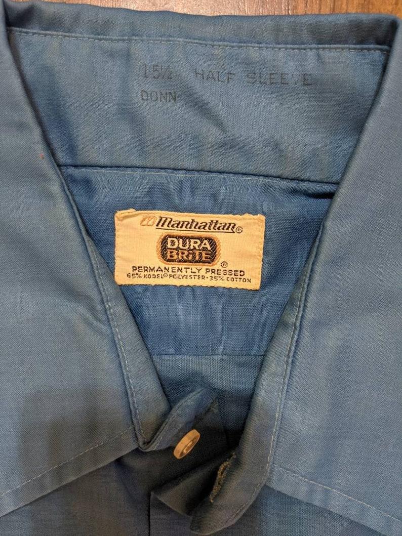 Manhattan Dura Brite Permanently Pressed 1960s Vintage Made in USA